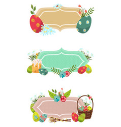 easter posters banner template set vector image