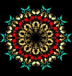 elegance floral paisley mandala pattern baroque vector image