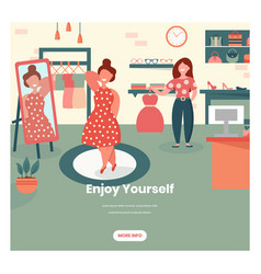 enjoy yourself web banner design template vector image
