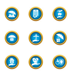 Everyday icons set flat style vector