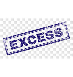 Grunge excess rectangle stamp vector