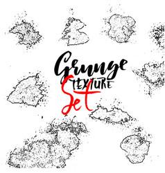 grunge spray texture set vector image