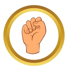 Hand with clenched fist icon cartoon style vector