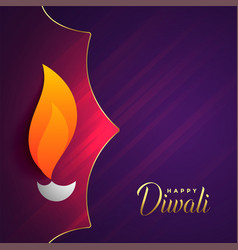 Happy diwali festival greeting with text space vector