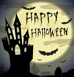 Happy halloween card Halloween template with vector image