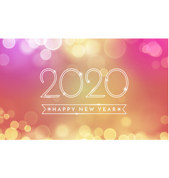 Happy new year greeting card 2020 confetti vector