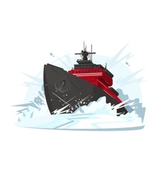 Icebreaker breaks ice vector image