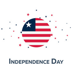 Independence day of liberia patriotic banner vector