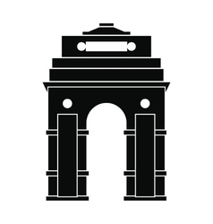 India Gate New Delhi India icon simple style vector