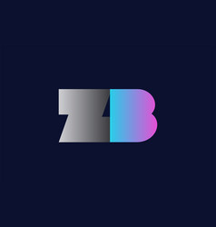 Initial alphabet letter zb z b logo company icon vector