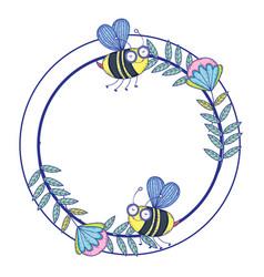 isolated bee draw cartoon design vector image
