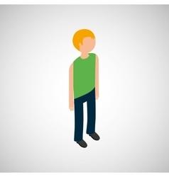Isometric people design vector