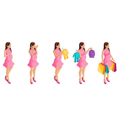 isometry stages and timing of pregnancy girl vector image