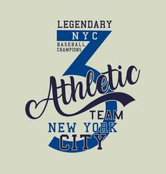Legendary baseball champions athletic vector