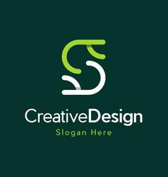 letter s outline creative business modern logo vector image