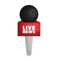 live news equipment icon vector image