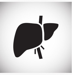 Liver icon on white background for graphic and web vector
