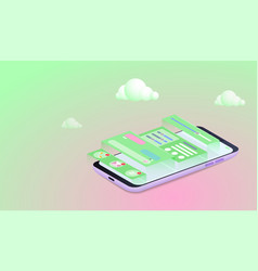 mobile application development concept smartphone vector image