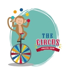 Monkey icon Circus and Carnival design vector