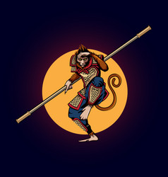 Monkey king vector