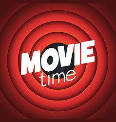 movie time background with cinema red curtains vector image