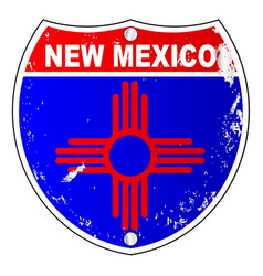 new mexico flag icons as interstate sign vector image