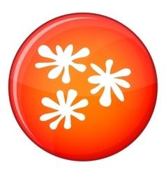 Paintball blob icon flat style vector
