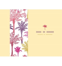 Palm trees seamless horizontal decor pattern vector image