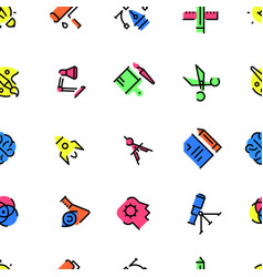 pattern of creative design icons vector image