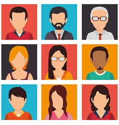 People digital design vector