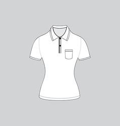 polo shirt outline on white background5 01 vector image