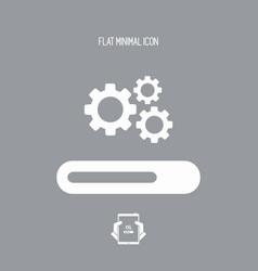 progression process bar icon vector image