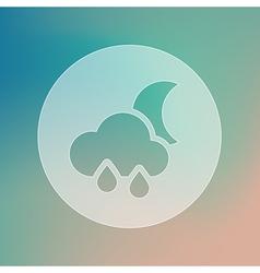 Rain Cloud Moon transparent icon Weather vector image