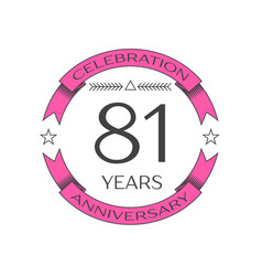 Realistic eighty one years anniversary celebration vector