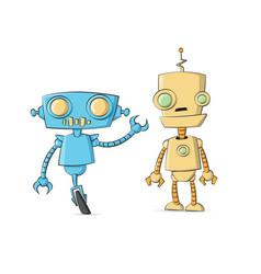 robot cartoon set collection tech cyborg vector image