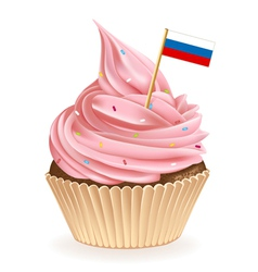 Russian Cupcake vector image