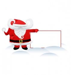 Santa Claus and banner vector image