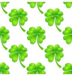 Seamless pattern with clover vector image vector image