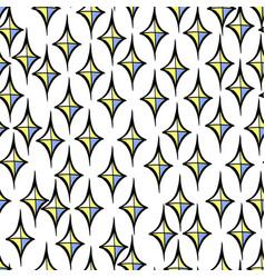 Seamless pattern with decorative diamond vector
