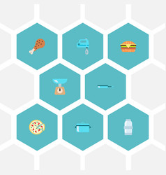 Set of cooking icons flat style symbols with vector