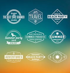 Set of summer retro design elements Vintage vector image