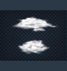 Set translucent white clouds vector