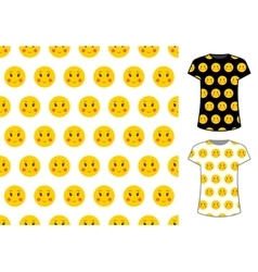 Smile sign seamless pattern good for textile and vector image