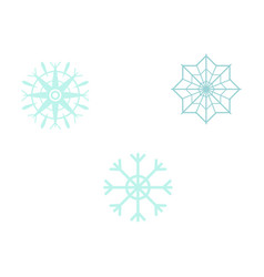 snowflakes set - simple vector image