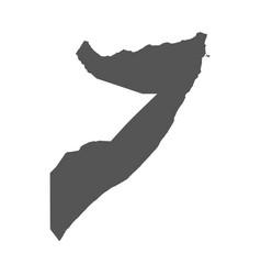 somalia map black icon on white background vector image vector image