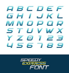 Sport font dynamic motion italic letters vector