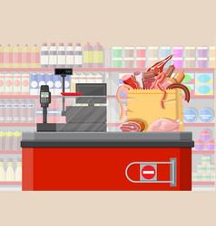 Supermarket store retail groceries vector