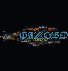 The crazy gazebo text background word cloud vector