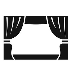 Theater stage icon simple style vector