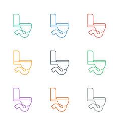 Toilet icon white background vector